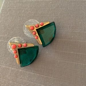 JCrew Pink, Green, and Gold studs